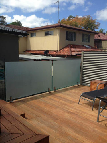 Balustrades frosted