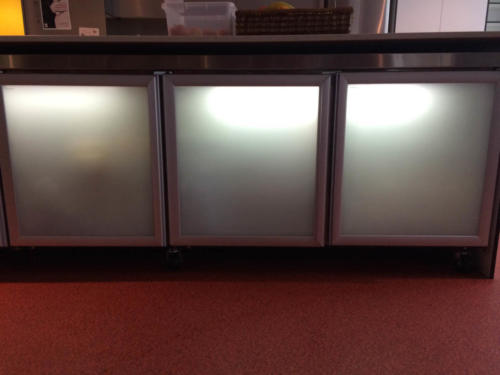 Commerical Fridge after 3M Sandblast