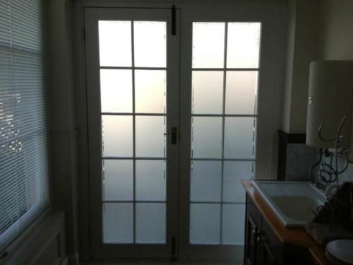 front door frosted film